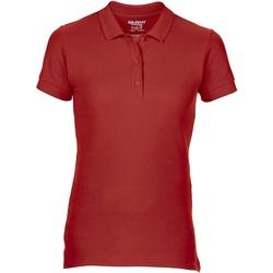 textil Dam Kortärmade pikétröjor Gildan 85800L Röd
