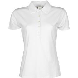 textil Dam Kortärmade pikétröjor Tee Jays TJ145 Vit