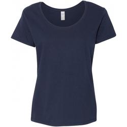 textil Dam T-shirts Gildan 64550L Marinblått