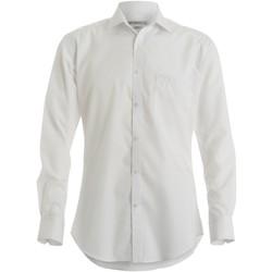 textil Herr Långärmade skjortor Kustom Kit KK113 Vit