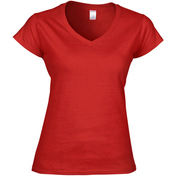 textil Dam T-shirts Gildan Soft Style Röd