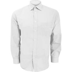 textil Herr Långärmade skjortor Kustom Kit KK104 Vit