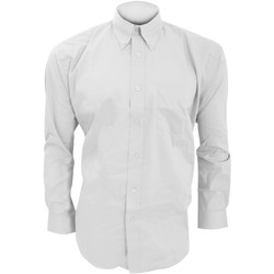 textil Herr Långärmade skjortor Kustom Kit KK105 Vit