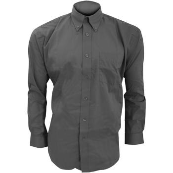 textil Herr Långärmade skjortor Kustom Kit KK105 Kol