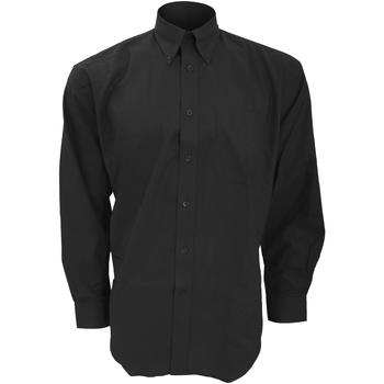 textil Herr Långärmade skjortor Kustom Kit KK351 Svart