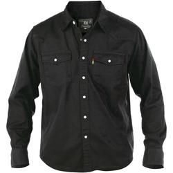 textil Herr Långärmade skjortor Duke Western Svart
