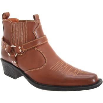 Skor Herr Boots Us Brass  Tan