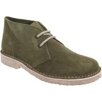 Skor Dam Boots Roamers Round Toe Khaki