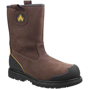 Skor Herr safety shoes Amblers 223C S3 WP Brun
