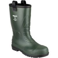 Skor Herr safety shoes Footsure 97 GREEN PVC RIGGER Grön