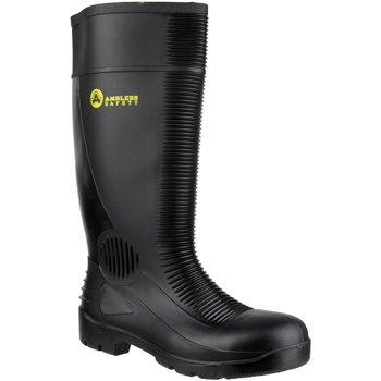 Skor Herr safety shoes Amblers FS100 Safety Black Wellingtons Svart