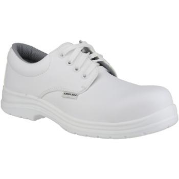 Skor Herr Snörskor Amblers FS511 White Safety Shoes Vit