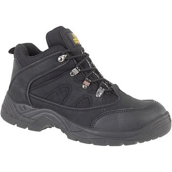 Skor Herr safety shoes Amblers FS151 BLACK MID BOOT SB-P Svart