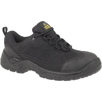 Skor Herr safety shoes Amblers FS214 BLACK TRAINER SHOE Svart