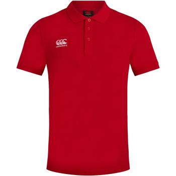 textil Herr Kortärmade pikétröjor Canterbury CN220 Röd
