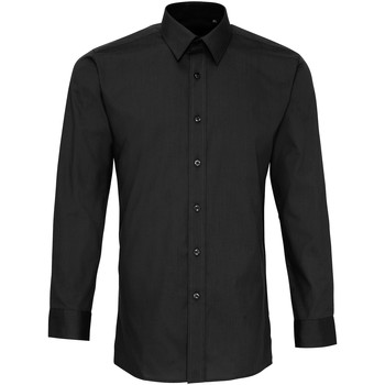 textil Herr Långärmade skjortor Premier PR204 Svart