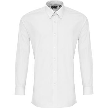 textil Herr Långärmade skjortor Premier PR204 Vit