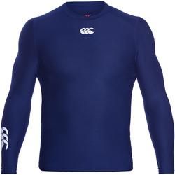textil Herr Långärmade T-shirts Canterbury CN360 Marinblått