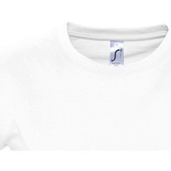 textil Dam T-shirts Sols 11502 Vit