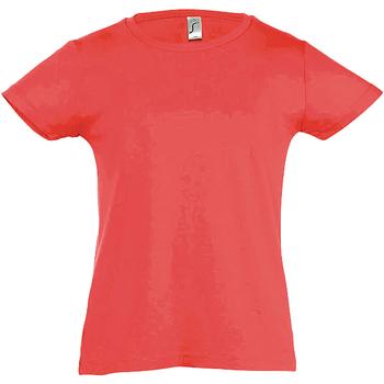 textil Flickor T-shirts Sols Cherry Korall