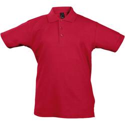 textil Barn Kortärmade pikétröjor Sols 11344 Röd