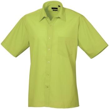 textil Herr Kortärmade skjortor Premier PR202 Lime
