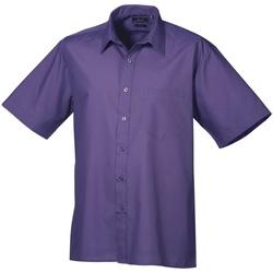 textil Herr Kortärmade skjortor Premier PR202 Lila