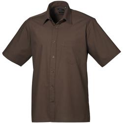 textil Herr Kortärmade skjortor Premier PR202 Brun