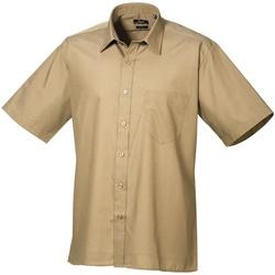 textil Herr Kortärmade skjortor Premier PR202 Khaki