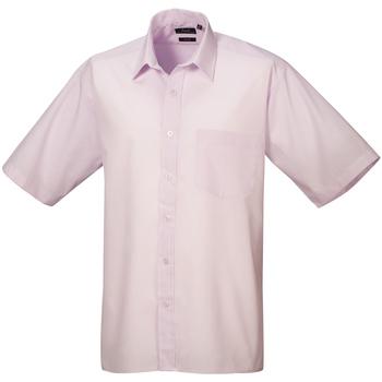 textil Herr Kortärmade skjortor Premier PR202 Rosa