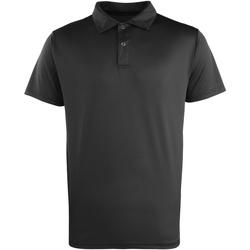 textil Kortärmade pikétröjor Premier PR612 Svart