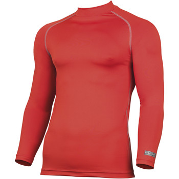 textil Herr Långärmade T-shirts Rhino RH001 Röd