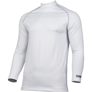 textil Herr Långärmade T-shirts Rhino RH001 Vit