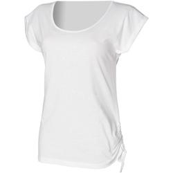 textil Dam T-shirts Skinni Fit Slounge Vit