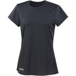 textil Dam T-shirts Spiro S253F Svart