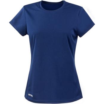 textil Dam T-shirts Spiro S253F Marinblått