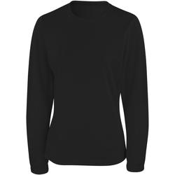 textil Dam Långärmade T-shirts Spiro S254F Svart