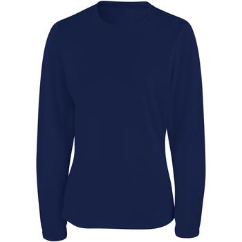 textil Dam Långärmade T-shirts Spiro S254F Marinblått