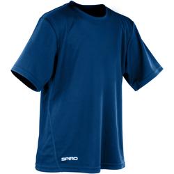textil Pojkar T-shirts Spiro S253J Marinblått