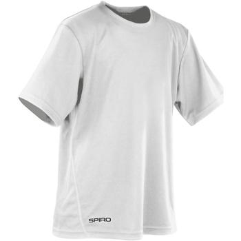 textil Pojkar T-shirts Spiro S253J Vit