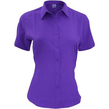 textil Herr Kortärmade skjortor Henbury HB596 Lila
