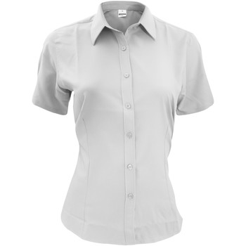textil Herr Kortärmade skjortor Henbury HB596 Vit