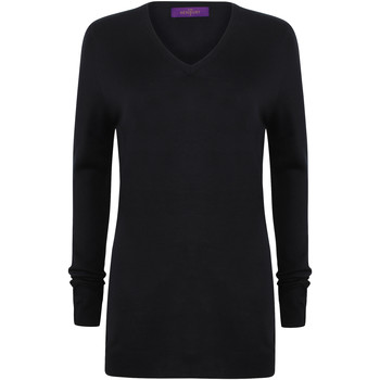 textil Dam Tröjor Henbury Cashmere Touch Marinblått
