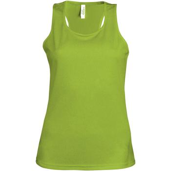textil Dam Linnen / Ärmlösa T-shirts Kariban Proact Proact Lime