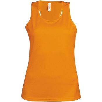 textil Dam Linnen / Ärmlösa T-shirts Kariban Proact Proact Orange