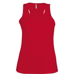 textil Dam Linnen / Ärmlösa T-shirts Kariban Proact Proact Röd