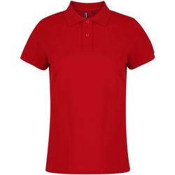 textil Dam Kortärmade pikétröjor Asquith & Fox  Röd