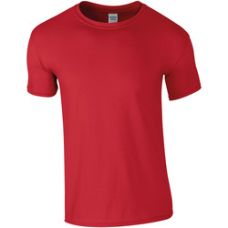 textil Herr T-shirts Gildan Soft-Style Röd