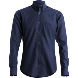 textil Herr Långärmade skjortor Kustom Kit KK184 Marinblått