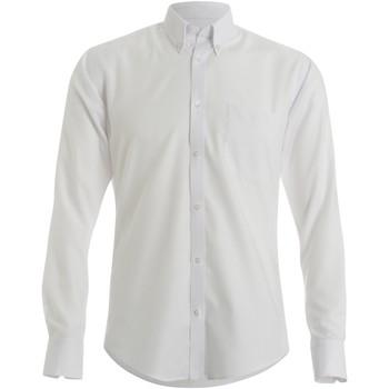 textil Herr Långärmade skjortor Kustom Kit KK184 Vit